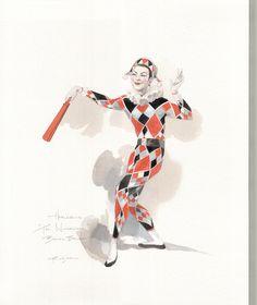 Harlequin Sketch by Robert Perdziola