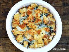 Spenótos kenyérpuding - Receptek | Ízes Élet - Gasztronómia a mindennapokra Gnocchi, Ricotta, Quiche, Cauliflower, Macaroni And Cheese, Tej, Dinner, Vegetables, Breakfast