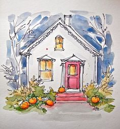 Sketchbook Wandering : Halloween Card, The (Happy) Distraction