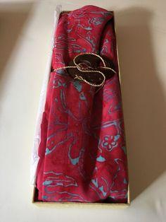 "Fabric Sarong Head Scarf Warp Swim Suit  Dupatta Tye dye Rayon Vintage 65""x46"""