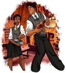 Tiana and Prince Naveen — Harry Potter / Disney fan art Disney Hogwarts, Harry Potter Disney, Crossovers De Disney, Disney Movies, Disney Characters, Disney Princesses, Disney Stuff, Pocket Princesses, Sexy Disney