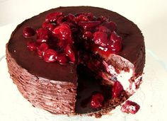 Macaron and cake: Višňový dort s čokoládovou ganache