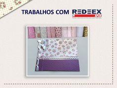 Scrapbook forrado com REDEEX Aplik Tecidos Adesivados.