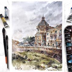 My new work about spring in Rome .Съездив в Италию, я сохранила целый ворох воспоминаний и референсов для новых МК, мне хотелось настроения…