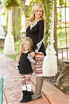 Mommy Brown Sugar Leggings - Ryleigh Rue Clothing by MVB Mother Daughter  Fashion dd0d813a0c