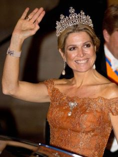 Queen Máxima is as busy as ever with four events in just three days. Here the Queen is seen attending a gala dinner at the Royal Palace in Amsterdam on june 24, 2015