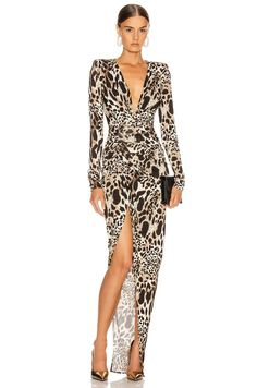 Shop for Alexandre Vauthier Jersey Lynx Ruched Dress in Lynx at FWRD. Haute Couture Designers, Sexy Cocktail Dress, Pop Fashion, Fashion Design, Ruched Dress, Summer Dresses For Women, Dress Codes, Dress Collection, Evening Gowns