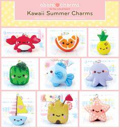 Kawaii Summer Charms by ~Oborochann on deviantART