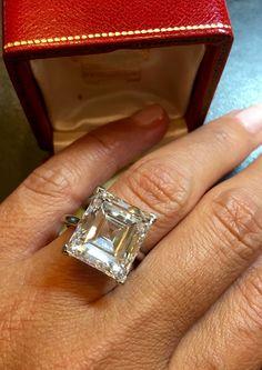 Stunning 10 carat diamond ring by Cartier circa 1950.