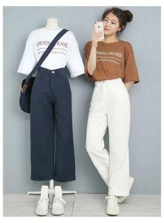 Korean Girl Fashion, Korean Fashion Trends, Fashion Mode, Kpop Fashion Outfits, Korea Fashion, Look Fashion, Ulzzang Fashion Summer, Korean Fashion Summer Casual, Korean Casual Outfits