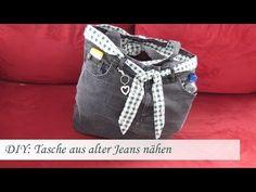 DIY: Einfache Tasche nähen aus einer alten Jeans - Für Nähanfänger - YouTube