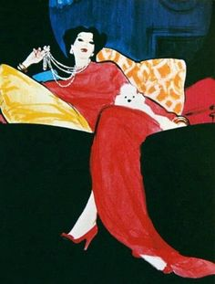 Rene Gruau Fashion Illustrator, Painter for House of Dior since ❤️ Rene Gruau, Jacques Fath, We Will Rock You, Pierre Balmain, Oeuvre D'art, Marie Claire, Fashion Art, Fashion Drawings, Illustration Art