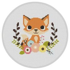 Fox Nursery Baby Cross Stitch Pattern Modern Cross von Xrestyk                                                                                                                                                                                 Mehr