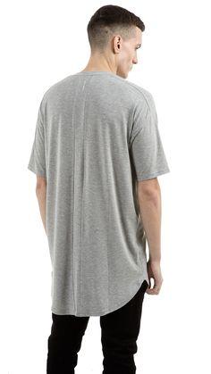 Essential Under Scoop T-shirt - Grey | REPRESENT CLO