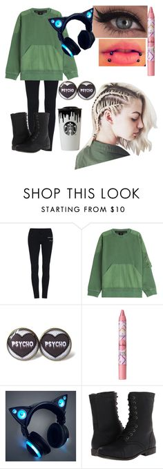 """""""cry"""" by bandtshirtsandskinnyjeans ❤ liked on Polyvore featuring Marc by Marc Jacobs, tarte, Band of Outsiders and Madden Girl"""