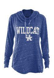 Kentucky Wildcats Womens Blue Hillrise Hoodie
