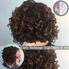 Tight corkscrew curl by curl Balayage and dry cut Carleen Sanhez  Naturally Curly Hair Expert www.haircutcolor.com 775.721.2969