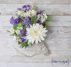Rustic Wedding Bouquet, Wildflower Bouquet, Lavender Bouquet, Bridal bouquet, Rustic Bouquet, Woodland Bouquet, Wedding Bouquet, Lavender by blueorchidcreations on Etsy
