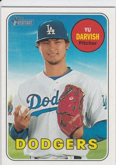 2018 Topps Heritage Yu Darvish Los Angeles Dodgers Sports Card No. Baseball Cards For Sale, Los Angeles Dodgers, Sports, Ebay, Hs Sports, Dodgers Baseball, Excercise, Sport, Exercise