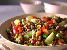 Get Italian Lentil Salad Recipe from Food Network