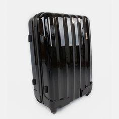Čierny cestovný kufor plastový veľký Suitcase, Kitchen Appliances, Diy Kitchen Appliances, Home Appliances, Kitchen Gadgets, Briefcase