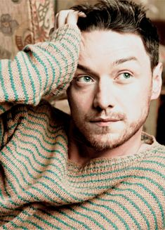 McAvoy, in a sweet striped jumper
