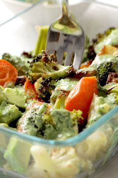 Crispy tender roasted veggies, buttery avocado, all tog. Crispy tender roasted veggies, buttery avocado, all together in a bowl with a drizzle of green tahini sauce. Perfect for meal prep! Veggie Dishes, Veggie Recipes, Whole Food Recipes, Cooking Recipes, Vegetable Snacks, Vegetable Bowl, Veggie Bowl Recipe, Whole Foods, Vegetarian Recipes Videos