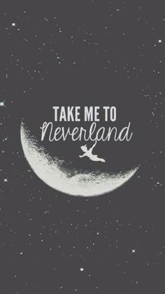 I love Peter Pan, and this would be a super cute background for your phone!