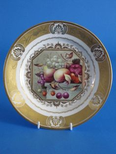 A Fine Derby Regency Period Cabinet Plate painted by THOMAS STEELE. (c. 1815 England)