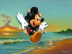 """Mickey's Grand Entrance"" by Jim Warren - Limited Edition of 50 on Canvas, 18x24."