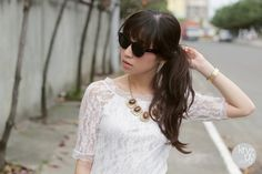 Vintage Fashion Inspired Bold Circle Round Sunglasses w/ Key-Hole Bridge 8368