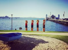 Happy Friday #geelong  #waterfront #ocean #bollards #city #central feeling #easternbeach #pier #sea #park #instagood #photooftheday #nature by cityofgreatergeelong http://ift.tt/1JtS0vo