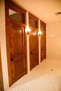 Bathroom Stalls With Wood Doors Floor Tile Same Style Well Have At - Wooden bathroom stall doors