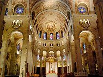 Basilica St Anne de Beaupre a magnificent European style cathedral in Quebec