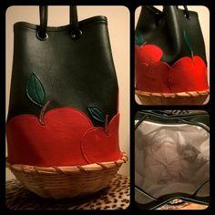Apple basket bag - handmade & animalfriendly Apple Baskets, Basket Bag, Sunglasses Case, Creative, Handmade, Bags, Handbags, Hand Made, Bag