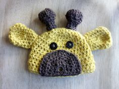 Infant Size Giraffe Hat by cozycrafters on Etsy, $15.00