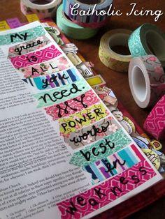 bible journaling- with washi tape-