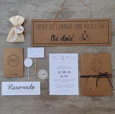 Dica de Convite de Casamento – Craft + Azul Marinho   Lápis de Noiva