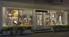 Earth tones and rich textures warm the windows of East Hampton's Luxury Store