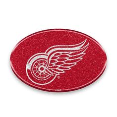 Detroit Red Wings Auto Emblem Oval Color Bling Style Special Order