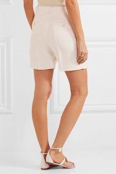 Chloé - Linen And Silk-blend Twill Shorts - Ivory - FR36