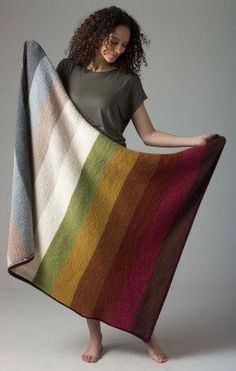 Level 1 Neutral Afghan (Knit) free pattern