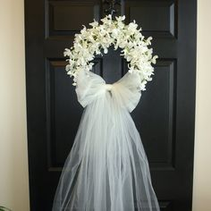 weddings door wreaths First Communion front door by aniamelisa