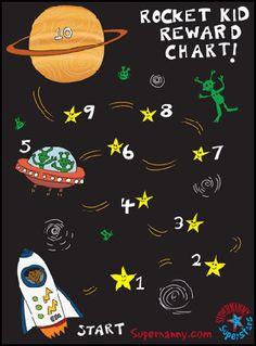 Reward Charts - 3 to 5 year olds - - Pirate Supernanny Superstars Reward Chart