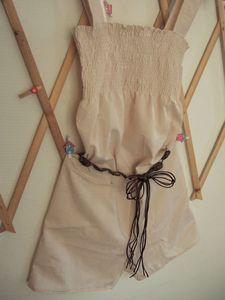 Un petit combi-short, en voile de coton, sur son balcon pour faire bronzette ^o^!!