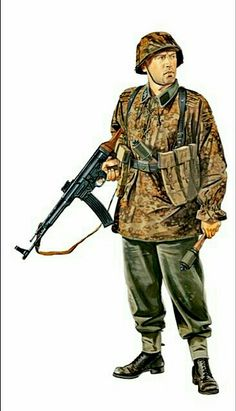 Waffen SS Panzergrenadier with STG-44, 1944/45 - pin by Paolo Marzioli