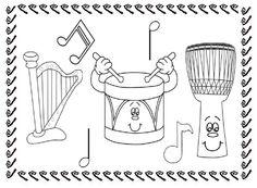 ausmalbilder instrumente   elementare musikpädagogik   pinterest   vorschule, suche und musik