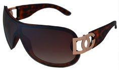 DG Women's Oversized Rimless Leopard Print Sunglasses (Brown Leopard) DG Eyewear. $14.99