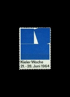 Hans Hillmann _ Kieler Woche Stamp (1964)