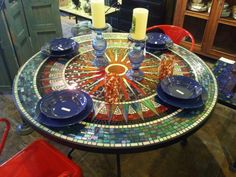 mosiac design in homes | ... mosaic patio table round design for your home improvement reference